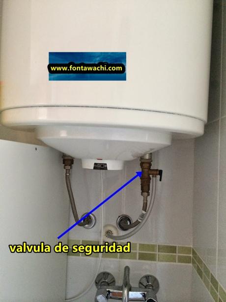 fuga-agua-valvula -seguridad